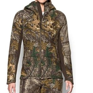 Under Armour Camo Sherpa Stealth Hunting Jacket XL